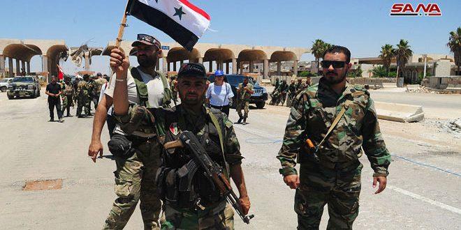 تجمع إسناد: افتتاح معبر نصيب ثمرة لتضحيات الجيش السوري