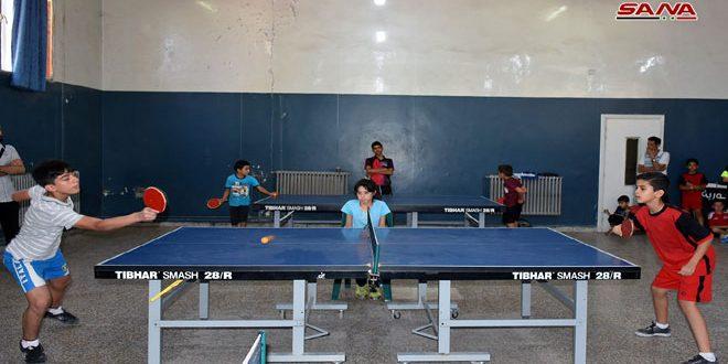 انطلاق منافسات الأدوار التمهيدية لكرة الطاولة المدرسية بحماة