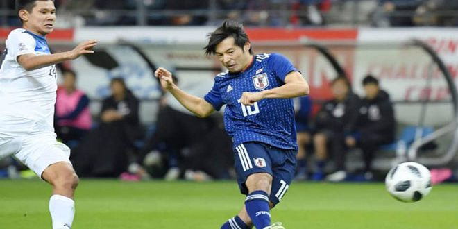 اليابان تفوز على قرغيزستان برباعية
