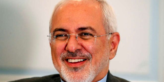 ظريف يجدد موقف إيران الداعم للحل السياسي للأزمة في سورية