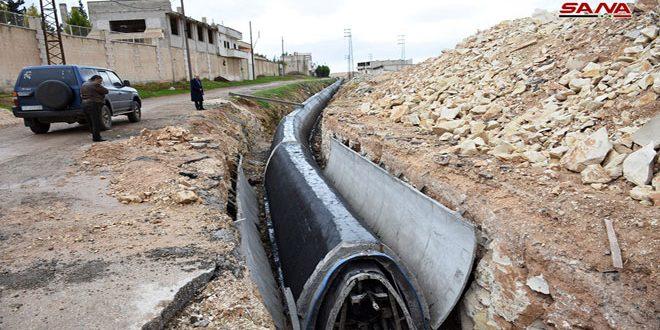 2.5 مليون مستفيد من مشروع خط جر مياه حماة الثاني