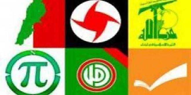 الأحزاب الوطنية اللبنانية:سورية المتنفس الطبيعي للاقتصاد اللبناني