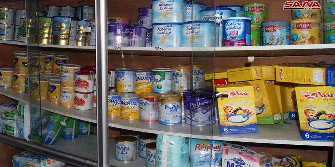صيادلة من دمشق لسانا: حليب الأطفال متوفر بكميات تكفي حاجة المستهلكين والأسعار ثابتة