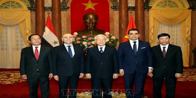 الرئيس الفيتنامي يتقبل أوراق اعتماد السفير مصطفى سفيرا غير مقيم لسورية في فيتنام