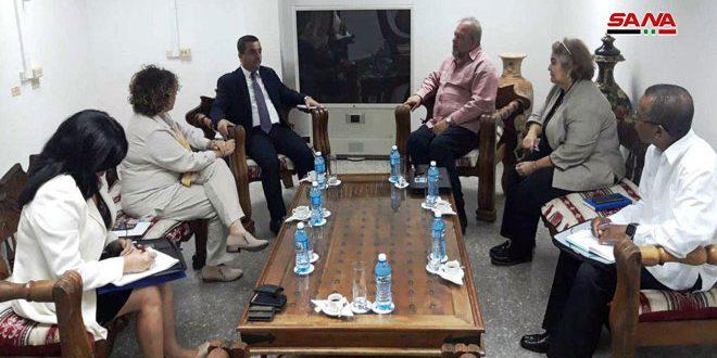 وزير السياحة الكوبي يؤكد رغبة بلاده بتعزيز التعاون الثنائي مع سورية