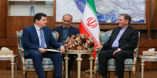 جهانغيري يجدد وقوف إيران إلى جانب سورية في مكافحة الإرهاب