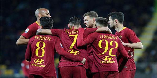 روما يفوز على فروسينوني في الدوري الإيطالي لكرة القدم