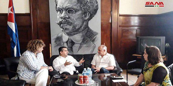رئيس اتحاد الصحفيين الكوبيين: الشعب السوري أظهر صمودا أسطوريا