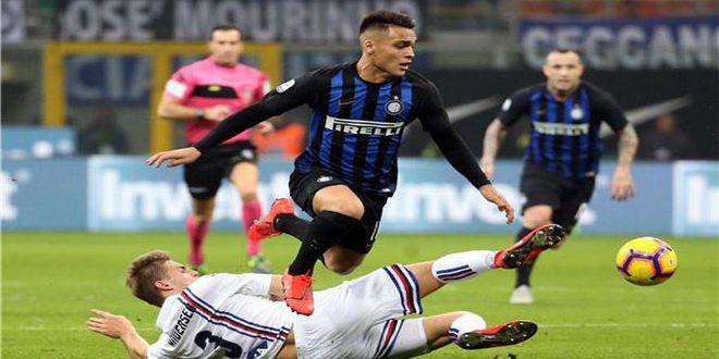 إنترناسيونالي يتفوق على سامبدوريا في الدوري الإيطالي لكرة القدم