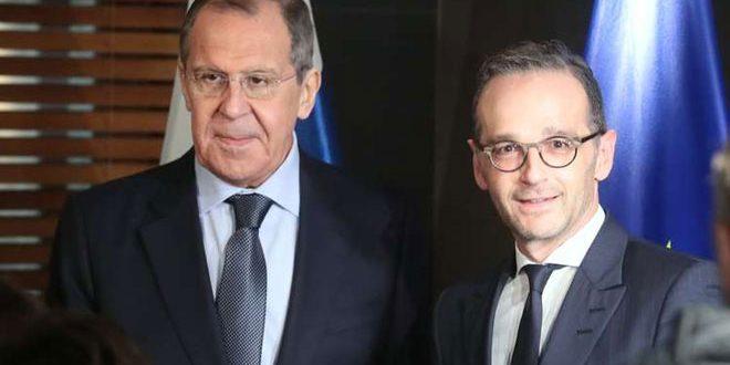 لافروف وماس يبحثان عملية التسوية السياسية للأزمة في سورية
