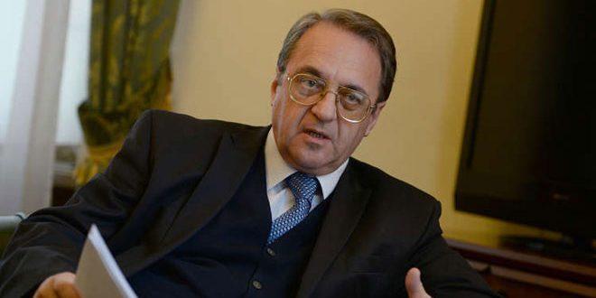 بوغدانوف يجدد التأكيد على ضرورة القضاء على الإرهابيين في إدلب