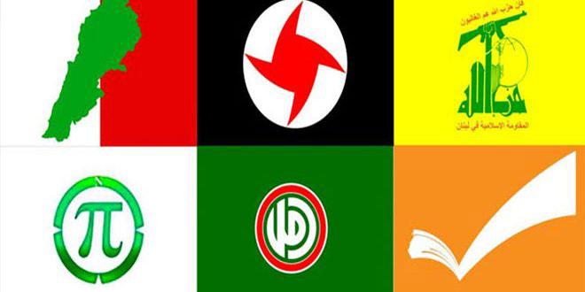 لقاء الأحزاب الوطنية اللبنانية: دمشق مركز القرار القومي