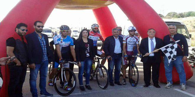 محمد الأطرش لاعب متميز برياضة الدراجات