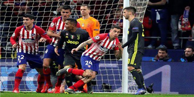 أتلتيكو مدريد يتغلب على يوفنتوس في دوري أبطال أوروبا