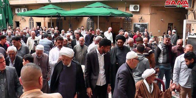 تجمع جماهيري في بغداد تنديدا بإعلان ترامب حول الجولان المحتل