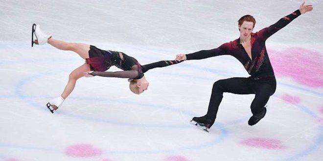 روسيا تحطم الرقم القياسي العالمي في مسابقة التزلج الفني الزوجي على الجليد