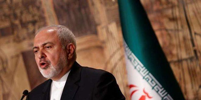 ظريف: الولايات المتحدة تعرقل كل المحاولات لحل الأزمة في سورية