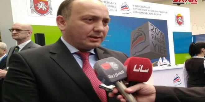 كوفيه:إمكانية التعاون بمجال المواصلات البحرية بين أبخازيا وسورية