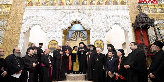 افتتاح كاتدرائية السيدة للروم الكاثوليك الملكية في حلب بعد إعادة تأهيلها