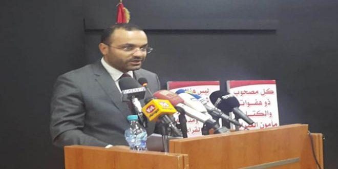 داوود يؤكد أهمية تعزيز العلاقات بين لبنان وسورية