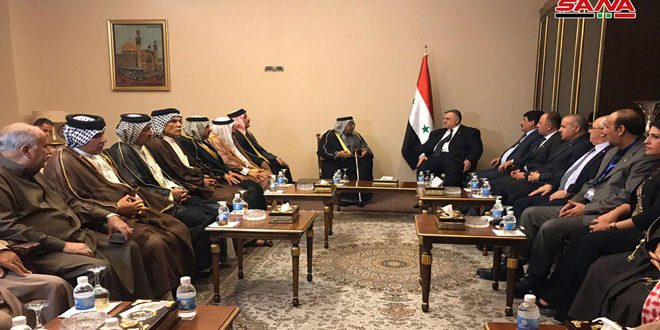 رئيس مجلس الشعب يلتقي شيوخ العشائر العربية في العراق
