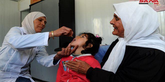 استكمال لقاحات أطفال الغوطة الشرقية ضمن أيام التلقيح الوطنية