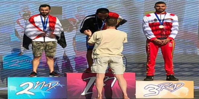 السباح السوري صالح محمد يحرز فضية البطولة العربية بالكويت