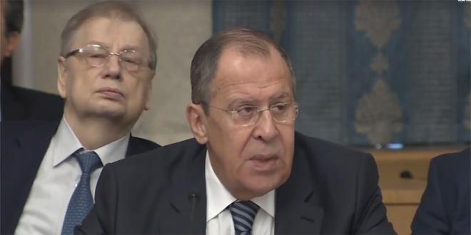 لافروف يجدد موقف موسكو الرافض لإعلان ترامب بشأن الجولان: خرق صارخ للشرعية الدولية