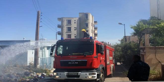 إخماد عدة حرائق في محافظات السويداء وحمص ودرعا وطرطوس