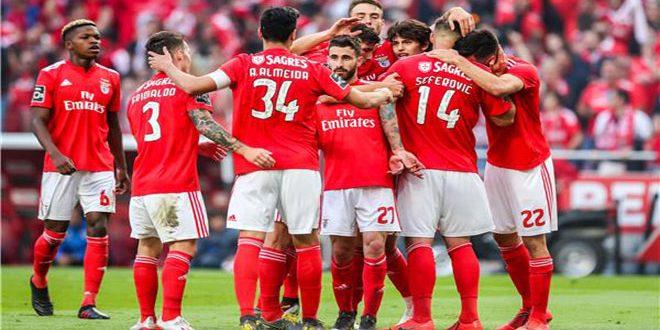 بنفيكا يتوج بلقب الدوري البرتغالي لكرة القدم