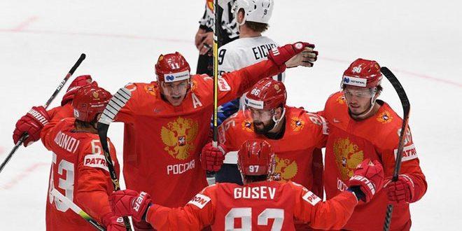 المنتخب الروسي يتأهل إلى نصف نهائي بطولة العالم للهوكي
