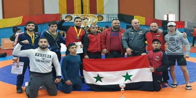 12 ميدالية متنوعة لسورية في بطولة المتوسط للمصارعتين الحرة والرومانية