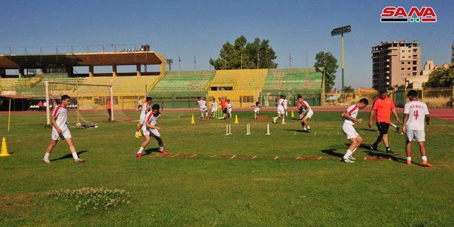 منتخب سورية بكرة القدم للناشئين يبدأ معسكرا تدريبيا في السويداء