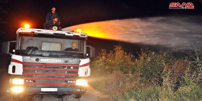 إخماد حريقين في اللاذقية دون وقوع أضرار