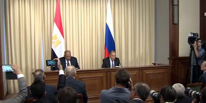لافروف: حل الأزمة في سورية وفق القرار 2254 واحترام سيادتها ووحدة أراضيها