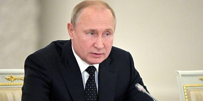 بوتين: القوات الروسية قضت على أعداد كبيرة من الإرهابيين في سورية