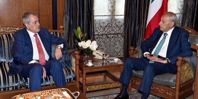 بري يستعرض مع السفير عبد الكريم التطورات الراهنة في المنطقة