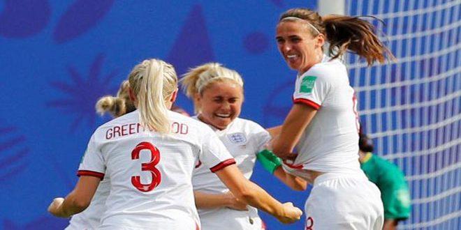 انكلترا تتأهل للدور الربع النهائي من كأس العالم للسيدات لكرة القدم