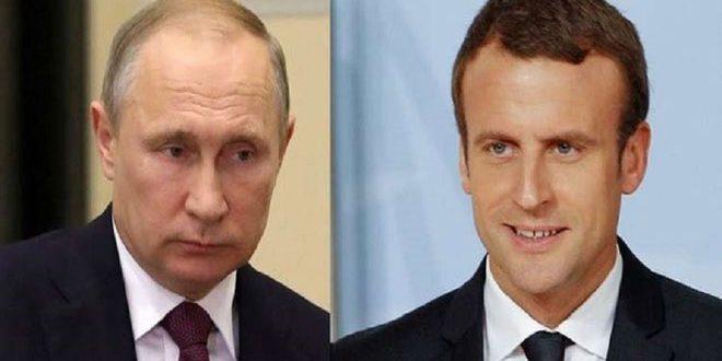 بوتين يناقش مع ماكرون الوضع في سورية والاتفاق النووي الإيراني