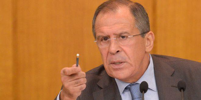 لافروف: لا يمكن السكوت إلى ما لا نهاية عن وجود عشرات آلاف الإرهابيين في إدلب