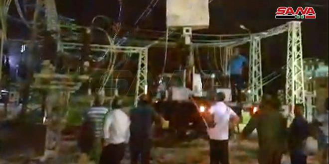 وزير الكهرباء: إعادة التيار الكهربائي لمعظم أحياء اللاذقية