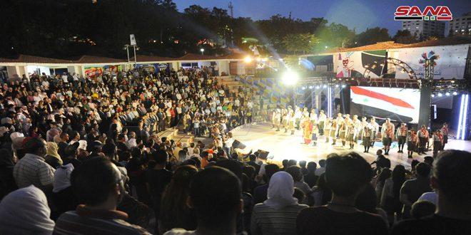 أنشطة اجتماعية وثقافية ورياضية واقتصادية في مهرجان الشام بتجمعنا