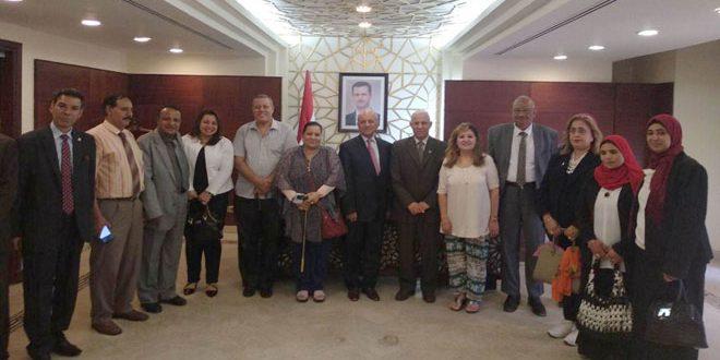 التجمع العربي والإسلامي لدعم خيارالمقاومة بمصريؤكدتضامنه مع سورية