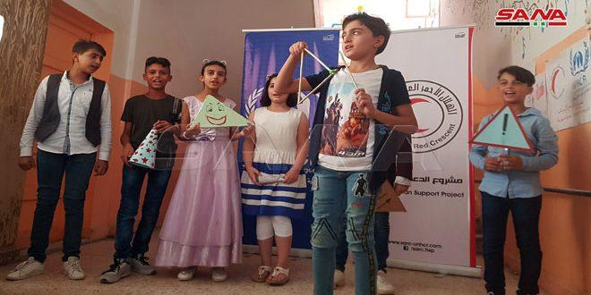 فعاليات منوعة في ختام النادي الصيفي التعليمي للمنقطعين عن الدراسة بالحسكة