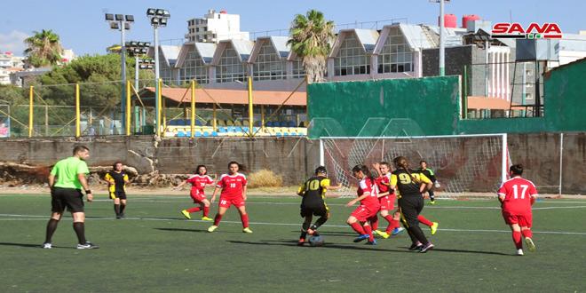 فوز محافظة دمشق على عمال السويداء في الدوري العام بكرة القدم للسيدات