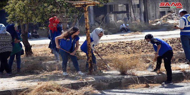 """بمشاركة 1000 شاب وشابة.. انطلاق حملة """"سوا بترجع أحلى"""" في حمص"""