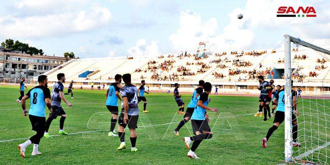 التعادل السلبي يسيطر على مباراة الاتحاد وجبلة في افتتاح مباريات دورة تشرين الكروية