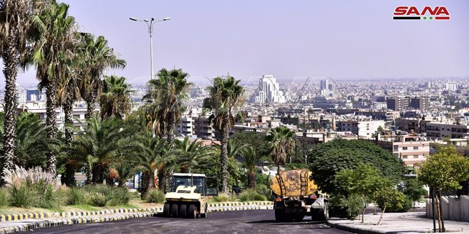 محافظة دمشق تواصل أعمال تأهيل وصيانة مشروعي طريقي برزة وقاسيون