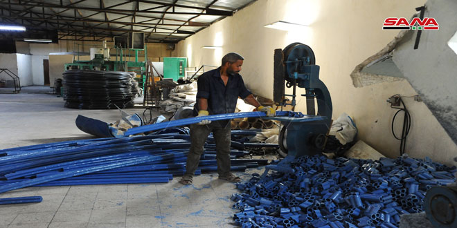 منتجات صناعية دقيقة تدخل في إعادة البناء يوفرها صناعيو منطقة فضلون الصناعية