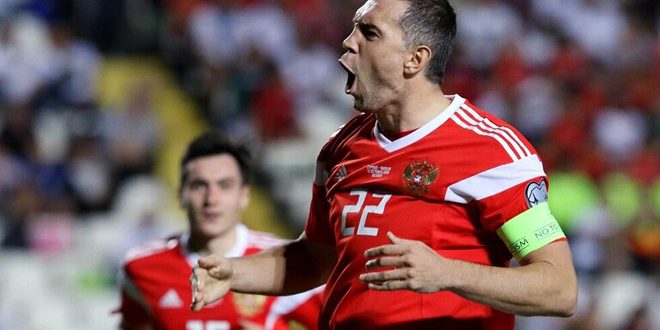 تأهل روسيا لكأس الأمم الأوروبية 2020 بعد فوزها بخماسية على قبرص